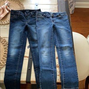 Two girls size 8 jeggings